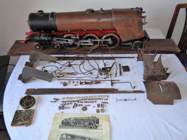 Part Built 3 5 inch gauge live-steam Britannia Uttoxeter