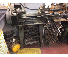 Myford M Type Long Bed Lathe on Stand