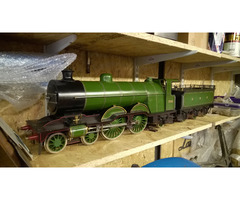 "SOLD: 3¼ 3 1/4"" live steam GNR Atlantic Massie type tender locomotive Bassett-Lowke"