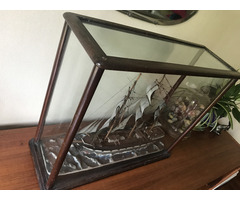 Nice glass case 61L x 21W x 49H (cm)
